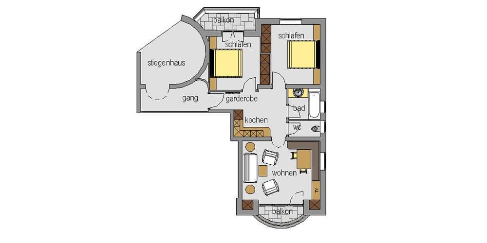 Appartement Streich 4: Drei-Zimmer-Ferienwohnung für 2 bis 4 Personen 6