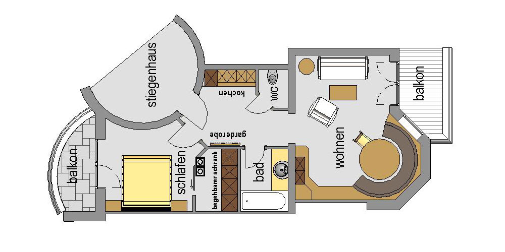 Appartement Streich 5: Zwei-Zimmer-Ferienwohnung für 2 bis 3 Personen 5