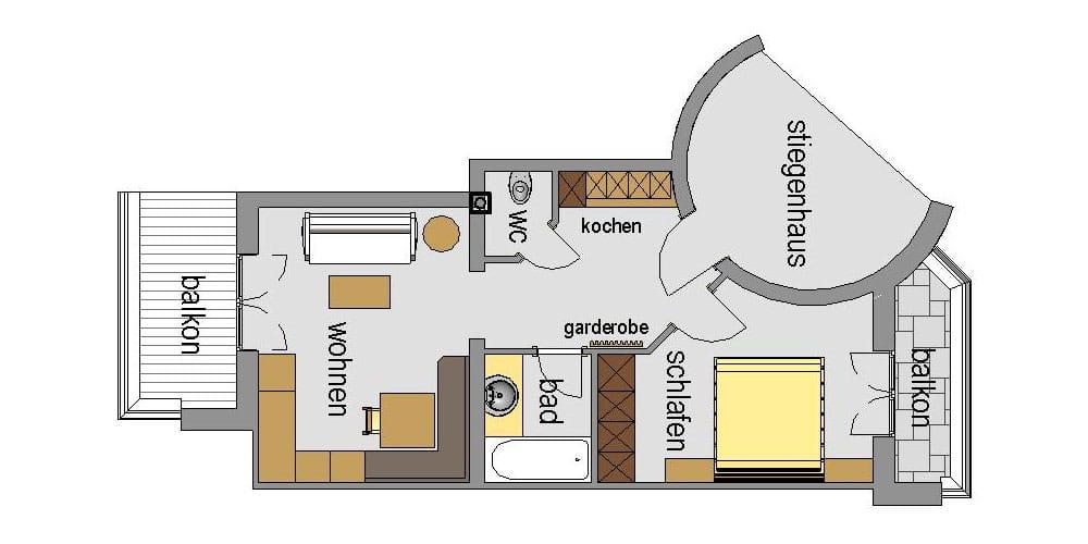 Appartement Streich 6: Zwei-Zimmer-Ferienwohnung für 2 Personen 6